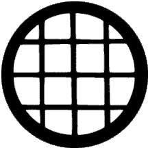 Rosco Laboratories 77136 Gobo Circular Windows 77136