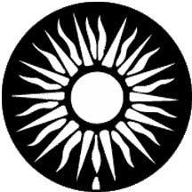 Rosco Laboratories 77400 Gobo Lightning Sun 77400
