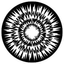 Rosco Laboratories 77616 Gobo Jagged Circles 77616