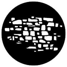 Rosco Laboratories 77618 Gobo Stonewall 2 77618