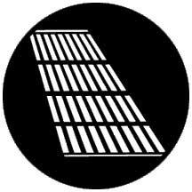 Rosco Laboratories 77622 Gobo Jail Bars Shadow  77622