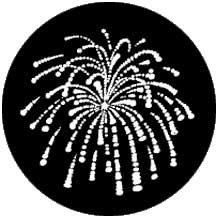 Rosco Laboratories 77766 Gobo Fireworks 1 77766
