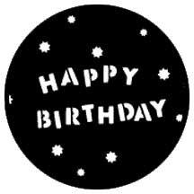 Rosco Laboratories 77940 Gobo Happy Birthday 77940