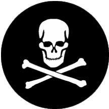 Rosco Laboratories 77949 Gobo Skull and Crossbones 77949
