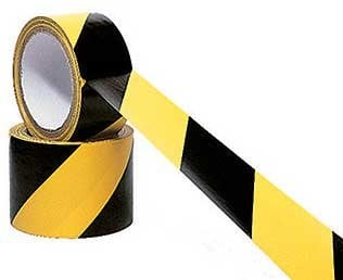 "Rose Brand SAFETY-2""-BLK/YELLOW Rose Brand Safety Tape 18 Yds 2"" SAFETY-2""-BLK/YELLOW"