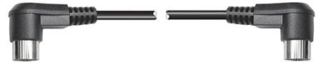Hosa MID-303RR 3' Right Angle MIDI Cable, Male - Male MID-303RR