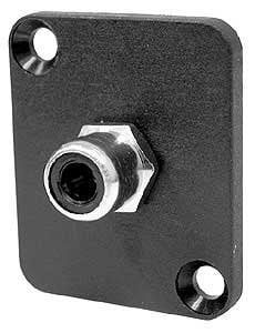 Ace Backstage Co. C25105  Connector, RCA Isolated Solder Type, Black Insulator, Panel Mount C25105
