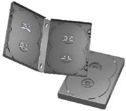 American Recordable Media DVDB-4-22MMO/BCM DVD Album 4-Disc, Black, Economy with Overwrap, 22.5mm DVDB-4-22MMO/BCM