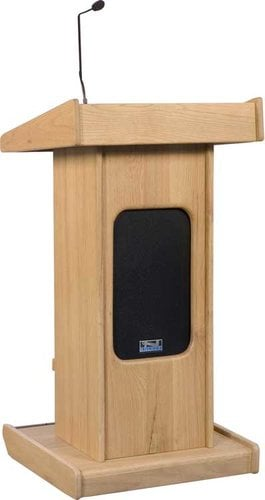 Anchor LK-LIB Portable Admiral Lectern with Front Speaker Grill, Microphone, Shockmount & Liberty Sound System LK-LIB