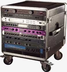 "Gator Cases GRC-BASE-10 10 RU Rack with Wheels (21"" Rackable Depth) GRC-BASE-10"