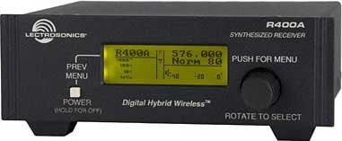 Lectrosonics R400A Digital Hybrid Wireless Diversity Receiver R400A