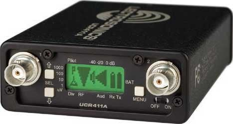 Lectrosonics UCR411A Compact Wireless Microphone Receiver with LCD, Digital Hybrid Wireless, Tracking Front-End UCR411A