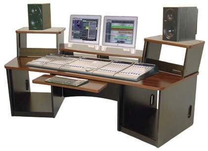 Omnirax FRC36B Workstation with Black Melamine FRC36B
