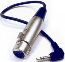 """Hosa XVS101F Right-Angle 1/8"""" mini to XLR Female Cable, 1Ft. XVS101F"""