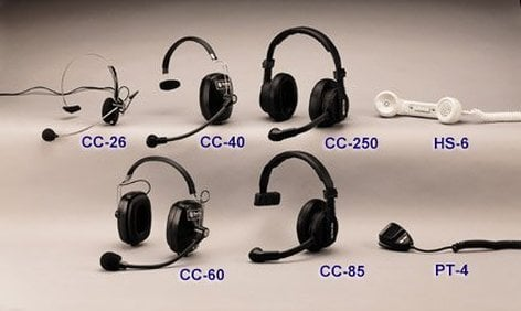 Clear-Com CC60 Sealed-Earcup Headsets, 2 Muffs CC60