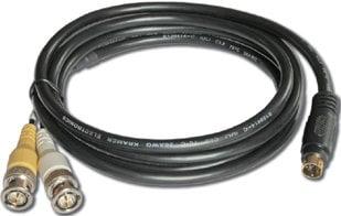 Kramer C-SM/2BM-10  4-Pin S-Video Male to 2-BMC Male Breakout Cable, 10 ft. C-SM/2BM-10