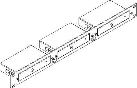 "Kramer RK-3T 19"" 1RU Rack Adapter for 3 TOOLS RK-3T"