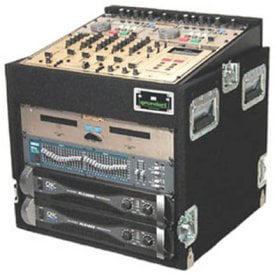 Grundorf TLR10DR-BLACK Top Load Rack (10-Space Slanted/10-Space Bottom, Recessed Hardware) TLR10DR-BLACK