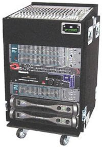 Grundorf Corp TLR16DR-BLACK Top Load Rack (10-Space Slanted/16-Space Bottom/Recessed Hardware) TLR16DR-BLACK