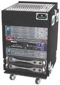 Grundorf Corp TLR18DR-BLACK Top Load Rack (10-Space Slanted/18-Space Bottom/Recessed Hardware) TLR18DR-BLACK