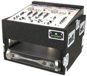 Grundorf Corp TLR6DR-BLACK Top Load Rack (10-Space Slanted/6-Space Bottom/Recessed Hardware) TLR6DR-BLACK