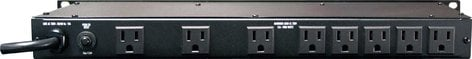 Furman M-8LX Power Conditioner, 9 Outlets (8 rear, 1 front), Pull-Out Lights, 15A M-8LX