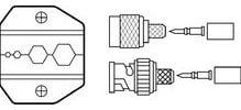 Ideal 30-578 Crimpmaster Die, RG6, RG59, 8281/Quad, for Crimpmaster Crimp Tool Frame 30-506 30-578