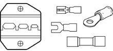 Ideal 30-579 Die Set, Insulated Terminals, for Crimpmaster Crimp Tool Frame 30-506 30-579