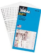 Ideal 44-103 10 Page Wire Marker Booklets (Legend: 1-45) 44-103