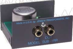 Jensen Transformers SUB-1RR Low Frequency Audio Line Input Isolator (1-Channel) SUB-1RR