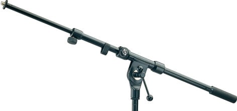 """K&M Stands 211/1 Classic Tow-Piece Telescopic Boom Arm with 3/8"""" Thread in Black 211/1"""