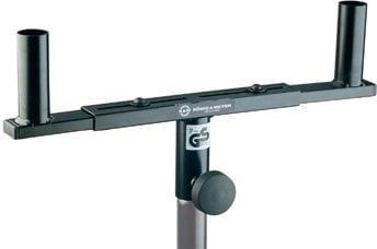K&M Stands 24105 Mounting Fork for 2 Speakers, Black 24105