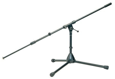 K&M Stands 255 Low-Level Microphone Stand with Telescoping Boom 255-BLACK