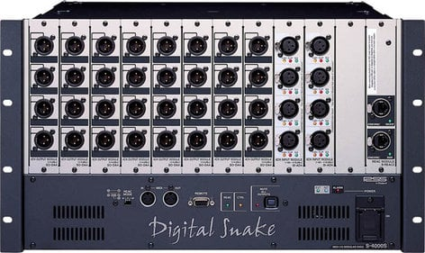 Roland System Group S4000S-0832 Digital Snake Stage Modular Rack 8 x 32 S4000S-0832