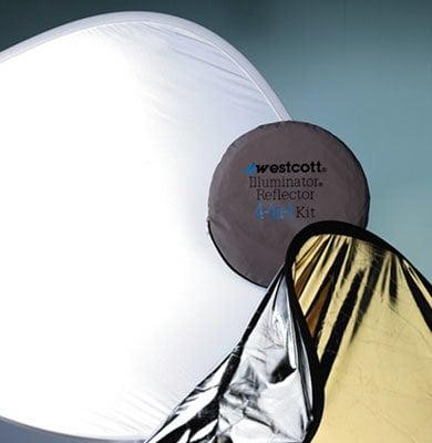 """Westcott 1035 Reflector Kit 4 in 1 52"""" Gold/Silver 1035"""