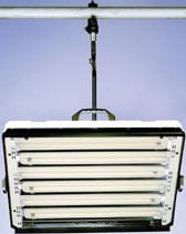 Lowel Light Mfg FLE-600 Lowel E-Studio6 Fluorescent Lighting Fixture (with Rotating Mount Plate) FLE-600