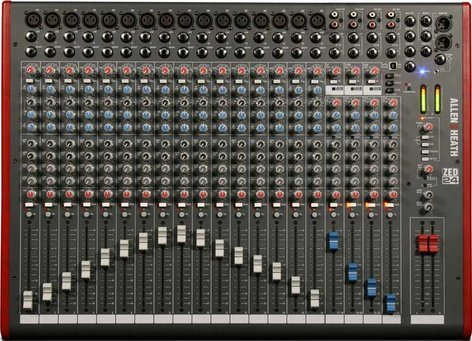 Allen & Heath ZED-24 Mixing Console with USB Port, 16 Mic/Line Inputs, 4 Stereo Line Inputs, and SONAR LE Software ZED-24