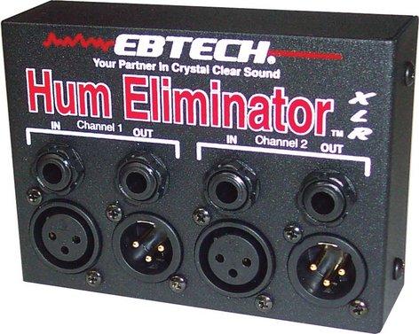 Ebtech HE2XLR Hum Eliminator, 2 Channel with XLR Jacks HE2XLR
