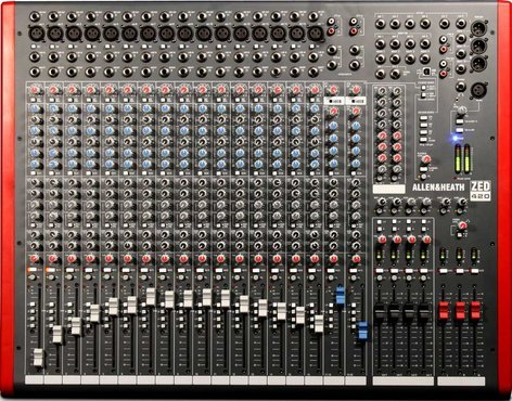 Allen & Heath ZED-420 Mixing Console with USB Port, 16 Mic/Line Inputs, 2 Stereo Line Inputs, 4 Bus, SONAR LE Software ZED-420
