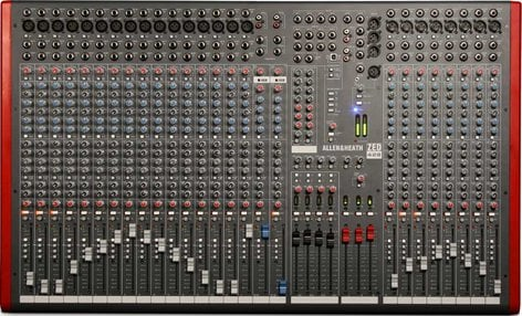 Allen & Heath ZED-428 Mixing Console with USB Port, 24 Mic/Line Inputs, 2 Stereo Line Inputs, 4 Bus, SONAR LE Software ZED-428