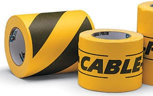 """Rose Brand CABLEPATH-4""""-BLK/YLW Rose Brand Tunnel Tape 30 Yds Black/Yellow CABLEPATH-4""""-BLK/YLW"""