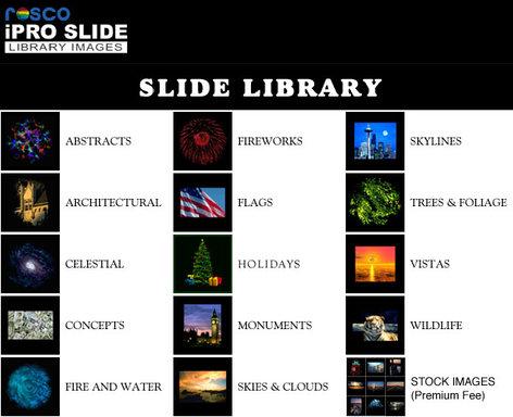 Rosco IPRO-SLIDE-LIBRARY iPro Slide Library IPRO-SLIDE-LIBRARY