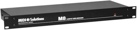 MIDI Solutions M8 8-Input MIDI Merger (1 RU) M8-MIDISOLUTIONS