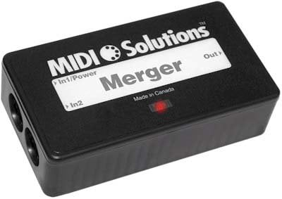 MIDI Solutions MERGER 2-Input MIDI Merger  MERGER