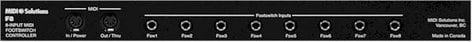 MIDI Solutions F8 8 Input MIDI Footswitch Controller (1 RU) F8-MIDISOLUTIONS