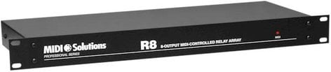 MIDI Solutions R8 8-Output MIDI-Controlled Relay Array R8-MIDISOLUTIONS