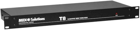 MIDI Solutions T8 8-Output Active MIDI Thru Box (1 RU) T8-MIDISOLUTIONS
