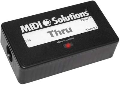 MIDI Solutions THRU 2-Output Active MIDI Thru Box THRU