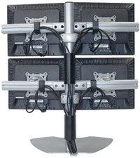 Chief Manufacturing KTP440B Quadruple Monitor Table Stand (Black) KTP440B