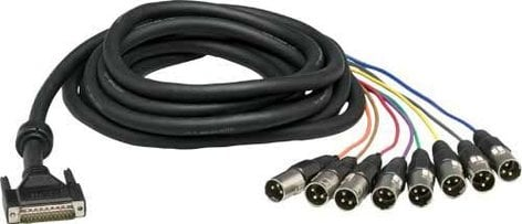 Lynx Studio Technology CBL-AOUT85 25-Pin D-Sub to 8xXLR-M Cable (16.4 ft.) CBL-AOUT85